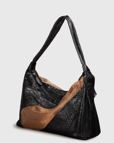 PALADINE - leather goods - Black Python / Lin & Cuivre
