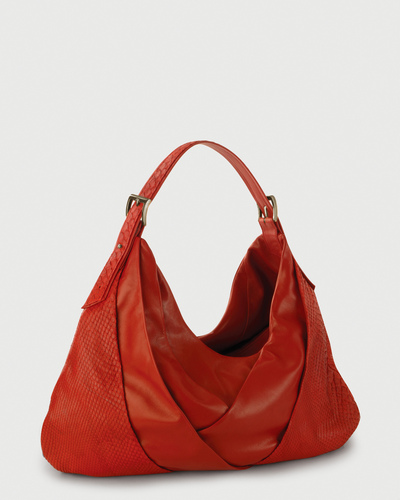 PALADINE - leather goods - Red Python / Red Lambskin