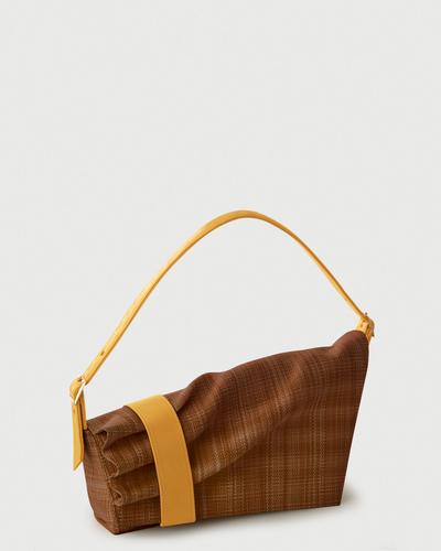 PALADINE - leather goods - Callisto Brown Straw / yellow Calfskin