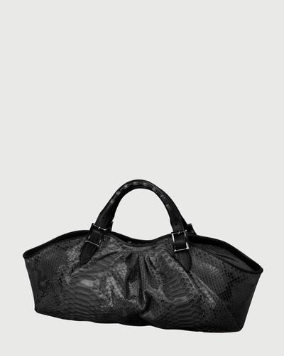 PALADINE - leather goods - Grey Python / Black Calfskin