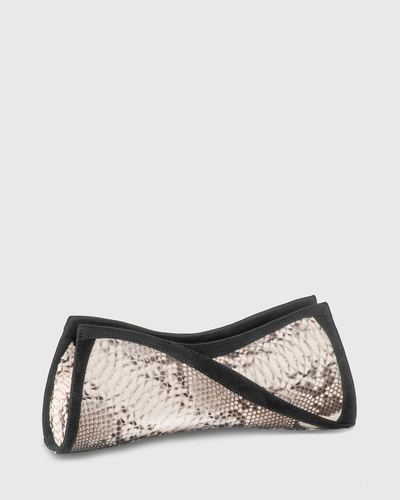 PALADINE - leather goods - Ecru pYthon / Grey nubuck