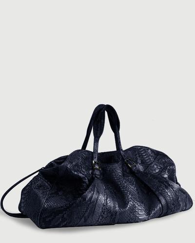 PALADINE - leather goods - Navy Blue Python