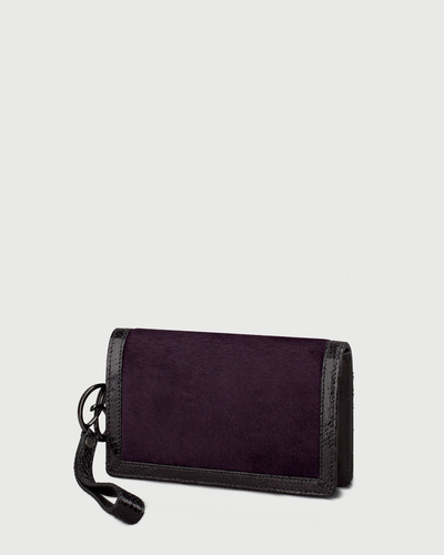 PALADINE - leather goods - Violet Pony calfskin / Black Python