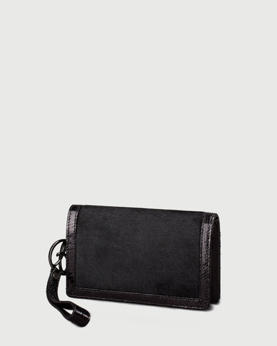 PALADINE - leather goods - Black Pony calfskin / Black Python