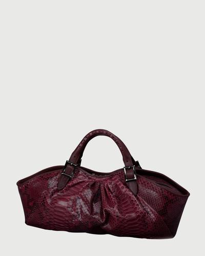 PALADINE - leather goods - Bordeaux Python / Bordeaux Calfskin