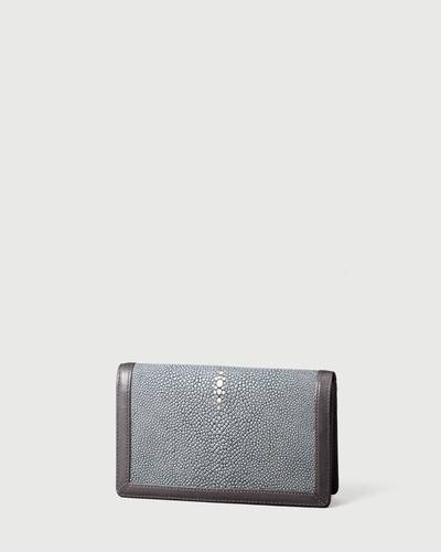 PALADINE - leather goods - Grey Stingray skin / Grey Calfskin