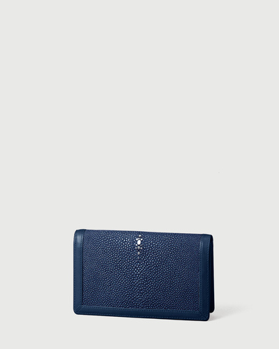 PALADINE - leather goods - Bleu Stingray skin / Bleu Calfskin