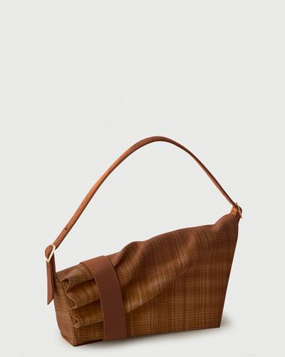 PALADINE - leather goods - Callisto Brown Straw / Brown Calfskin