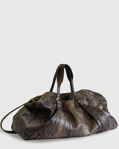 PALADINE - leather goods - Charcoal brown Python