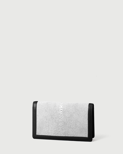 PALADINE - leather goods - White Stingray skin / Black Calfskin
