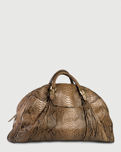 PALADINE - leather goods - Tobacco Python