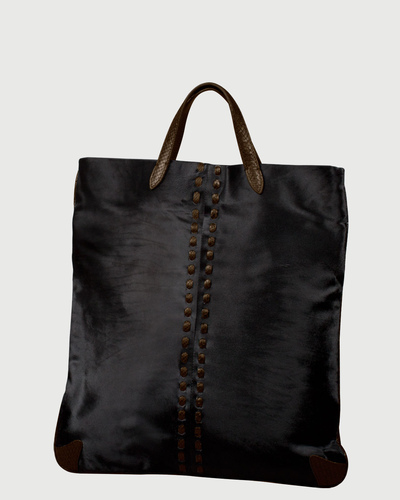 PALADINE - leather goods - Black Pony Calfskin / Brown Python