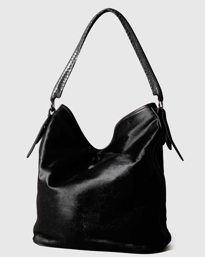 PALADINE - leather goods - Black Pony Calfskin / Grey Cobra