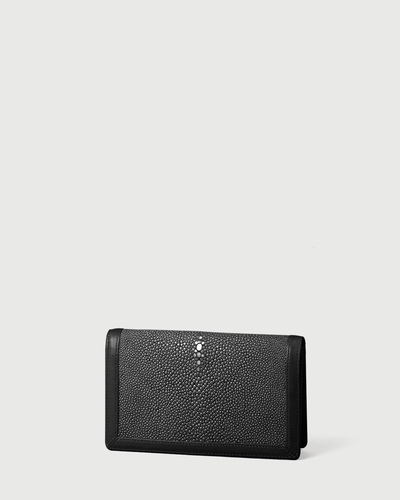 PALADINE - leather goods - Black Stingray skin / Black Calfskin