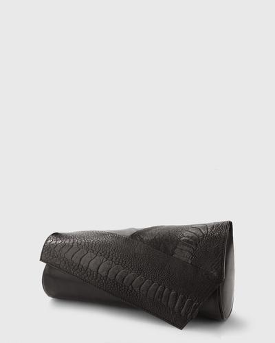 PALADINE - leather goods - Black Austrichleg/ Black Lambskin