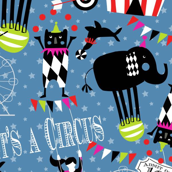 Tina Beans - retro circus