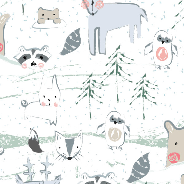 Tina Beans - critters in the snow