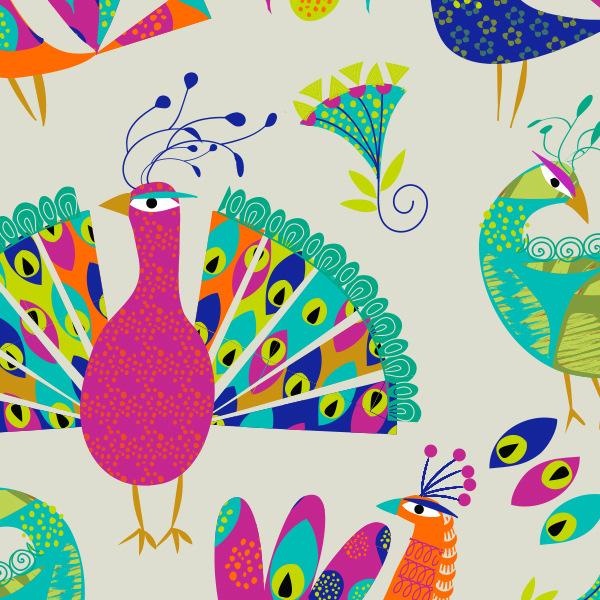 Tina Beans - peacocks