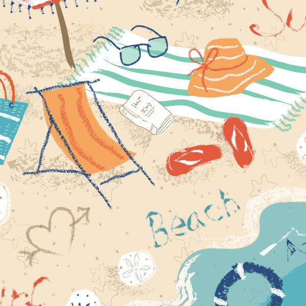 Tina Beans - the beach