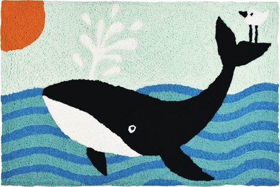 Tina Beans - Spouting whale 21x33