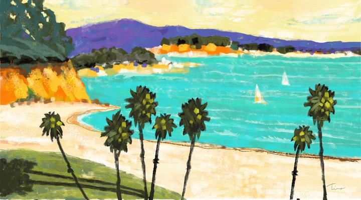 Tina Beans - East beach, Santa Barbara