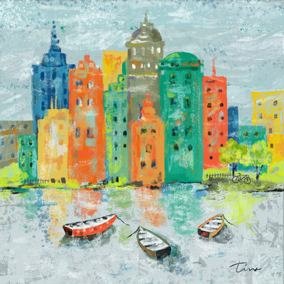 Tina Beans - Cityscape with boats