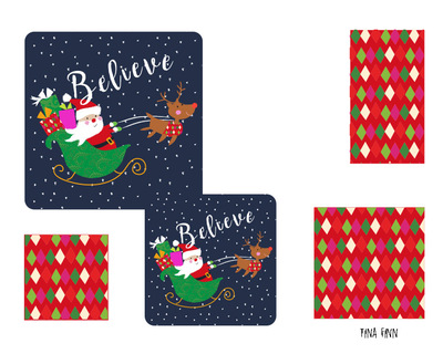Tina Beans - Believe paper plates set