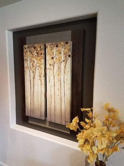 Tina Beans - Aspens mounted in hand crafted frame.