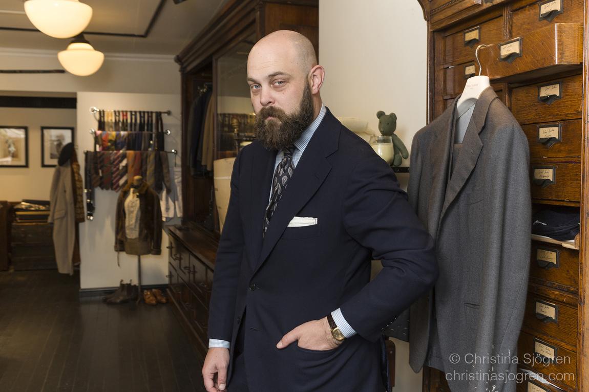 Christina Sjögren - Portrait of meanswear icon Ethan Newton for The Japan Times