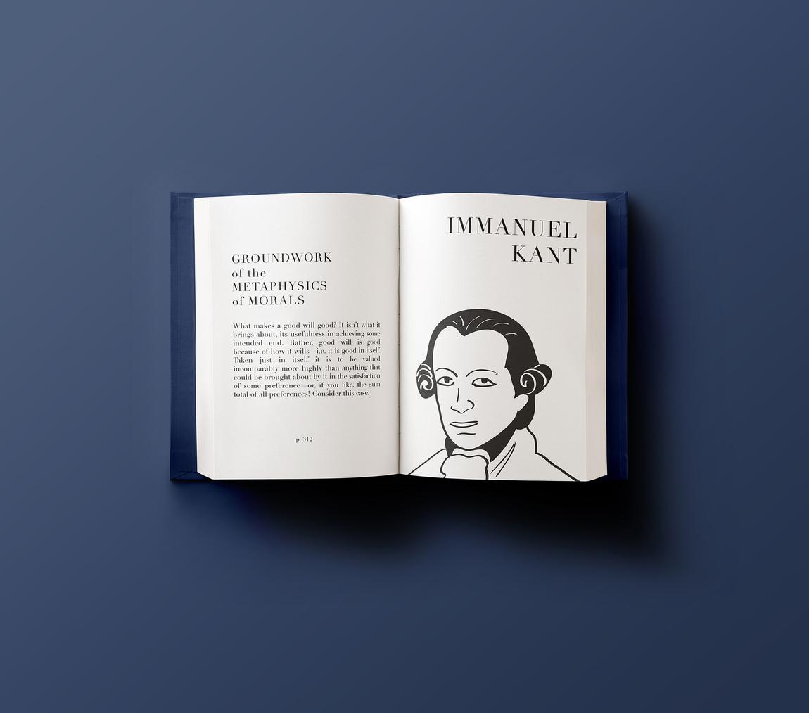 Amie Davis - Immanual Kant - Illustration